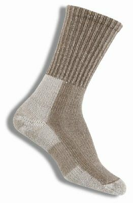 Thorlo Women's Wool/Silk Moderate Cushion Light Hiker Crew Sock,Khaki,Si...