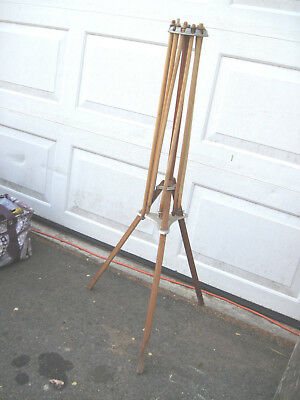 Antique Vintage Favor Wooden 8 Arm Clothes Hanging Drying All Org.