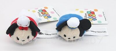 New Authentic Disney Cruise Line Mickey & Minnie Mini Tsum Tsums Plush