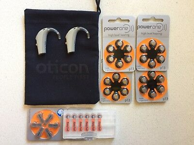 Oticon Go pro Digital Hearing Aids. Left & Right. Great Condition