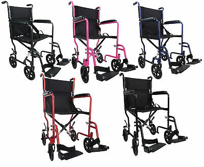 Aidapt Steel Compact Transport Wheelchair (Various Colours)