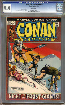 Conan the Barbarian #16 CGC 9.4 NM WHITE Pages Universal CGC #0006393003