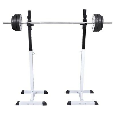 New Barbell Squat Rack Dumbbell Holder Home Gym Fitness Weight Equipment Storage