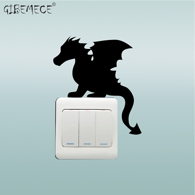 Game Of Thrones Baby Dragon Switch Sticker wall Animal Vinyl for Kids Room Home