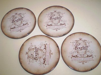 4 Old (but never used) cork backed coasters  -   COOPERS
