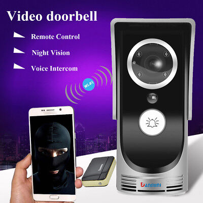 2017 Wireless WiFi Remote Video Intercom Doorbell IR Camera for APP Android/IOS