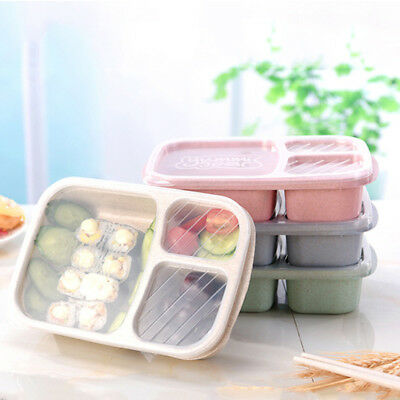 Wheat Non-pollution Microwave Lunch Box Picnic Food Container Bento Storage Box