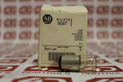 Allen-Bradley 855T-L24 24 Volt Incandescent Lamp - Series A - New Surplus Open
