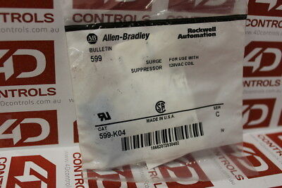 Allen Bradley 599-K04 Surge Suppressor - Series C - New Surplus Sealed