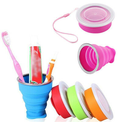 NEW Portable Silicone Collapsible Telescopic Drinking Folding Cup Camping Travel