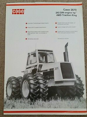 Case 2670 4Wd Traction King Tractor Sales Brochure