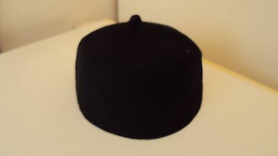 "Nigerian Traditional ""Igbo Fila"" Men's Cap Black - 22 inches 100% Wool"