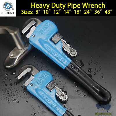 Heavy Duty Stilsons Monkey Pipe Wrench BERENT High Quality Plumbing Tool 8 Sizes