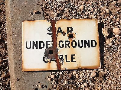 South Australian Railway SAR enamel sign