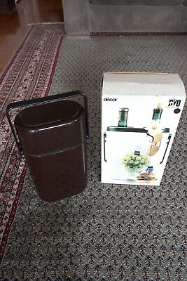 Decor wine cooler/carrier, classic 1970s Retro