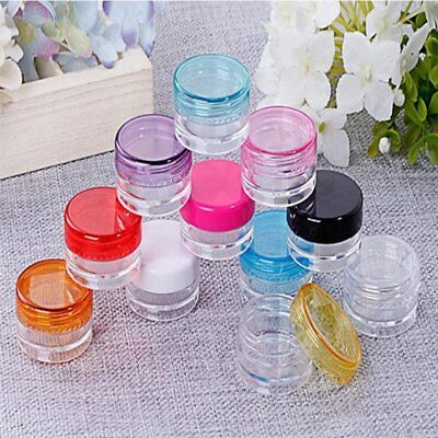 10Pca 5g Clear Plastic Cosmetic Sample Container Jars Pot Small Empty Travel CU