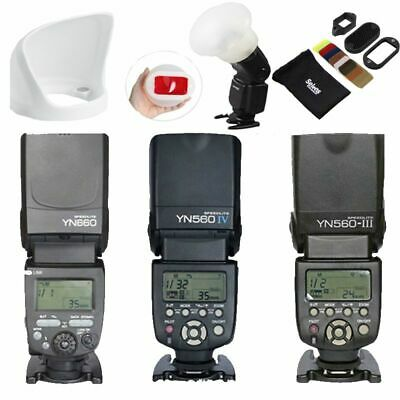YONGNUO YN560IV YN560III YN660 Wireless Flash Speedlite Kit For Cannon Nikon
