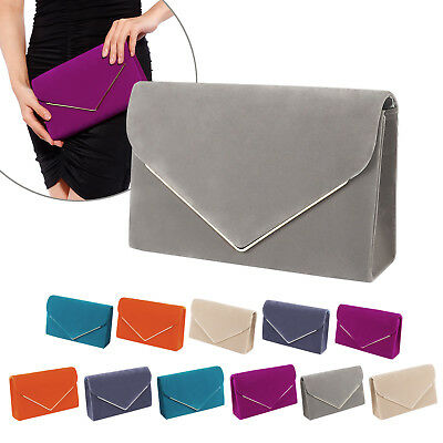 Large Envelope Clutch Evening Faux Suede Shoulder Bag Evening Wedding Clutch