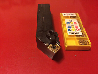 INDEXABLE TURNING TOOL HOLDER KENNAMETAL MSSNR-164C with 5 NEW SNMG432 INSERTS