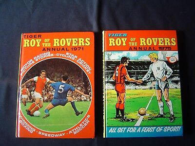 Roy of the Rovers Annuals x 2 1971 + 1975