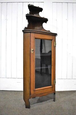 Antique mahogany floor standing corner cupboard / glazed display cabinet