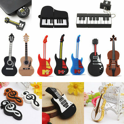 32GB 64GB Violin Piano Guitar Music Gift USB Flash Pendrive Memoria U Disk