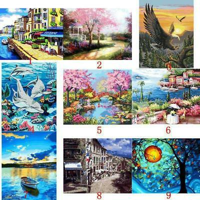 "AU 20*16"" Paint By Number Kit Digital Oil Painting Canvas No framed Street Light"