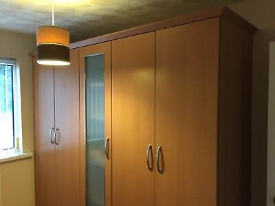 Bedroom Fitted Wardrobes & Drawers Redwood Colour Home Furniture DIY