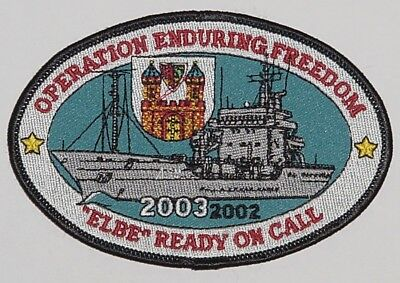 "Patch Aufnäher Tender ""Elbe"" A511 Operation Enduring Freedom 2003 ........A3578"