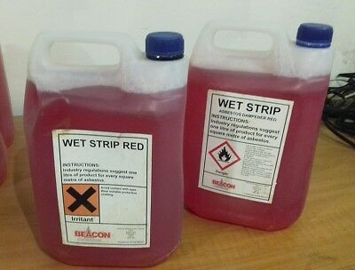 WET-STRIP SURFACTANT Pink 5Ltr - ASBESTOS REMOVAL ADHESIVES CHEMICALS