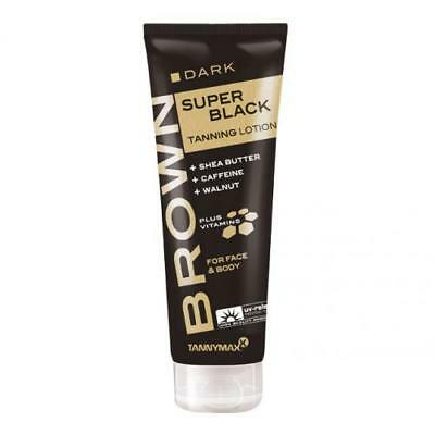 TannyMaxx Dark Super Black Tanning Sunbed Lotion Face Body Tan Cream 125ml