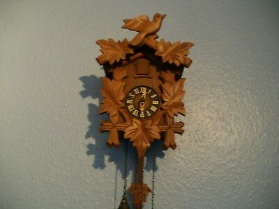 Wooden Black Forest Cuckoo Clock with Regula Movement, Wall Clock