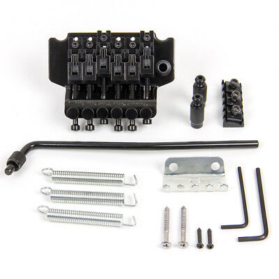 Floyd Rose Licensed Guitar Tremolo Bridge Parts System for Electric Guitar Black