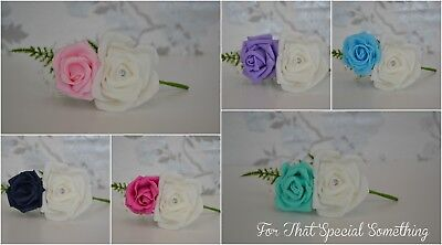 Rose Corsage Wedding Buttonhole Variety Colours Groom Best Man Guest Calla Lily