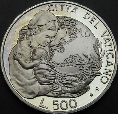 VATICAN 500 Lire 1995R Proof - Silver - International Year of the Woman - 1650 ¤