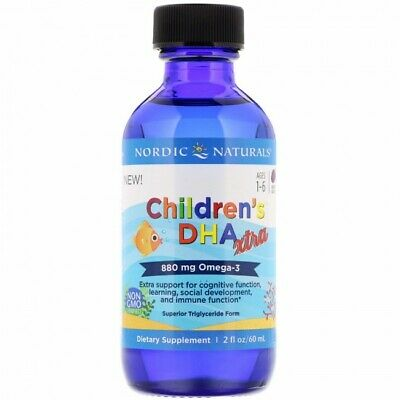 Nordic Naturals Children's DHA Xtra - 880mg Berry Punch - 60 ml.