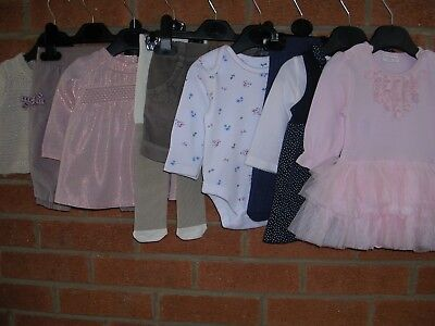 Mainly NEXT Girls Cute Pink Bundle Outfits Tops Dress Cardigan Age 0-3m