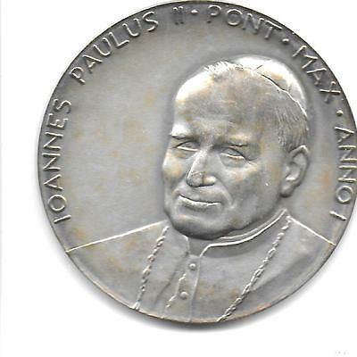 Vatican City 1978 Pope John Paul II Silver(.986) Medal 43 mm With Case