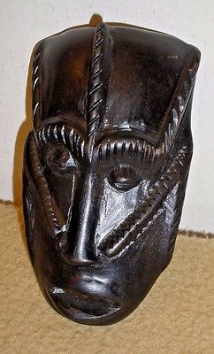 """African? Wooden Mask Dish - 4 1/8"""""""