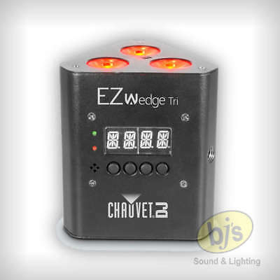 Chauvet DJ EZWEDGETRI EZ Wedge TRI3 x 3 Watt TRI LEDs Uplight Battery Operated