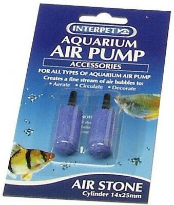 Interpet Aqua Air Stones Air Pump Cylinder for Aquarium Fish Tank | 14mm x 25mm