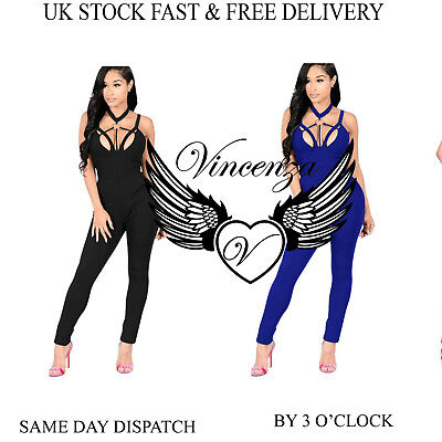 Womens Summer Ladies Jumpsuit Evening Party  Holiday Playsuit Ladies Vincenza UK