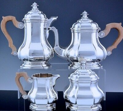 Superb Qualty Art Deco Paris French 950 Sterling Silver Tea & Coffee Service Set