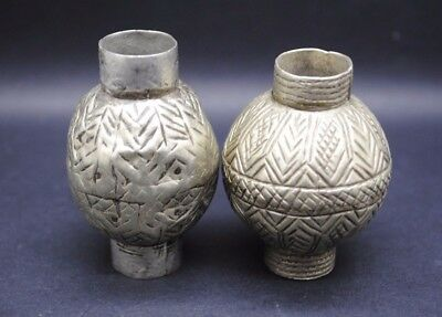 Two Islamic Antique Silver Beads