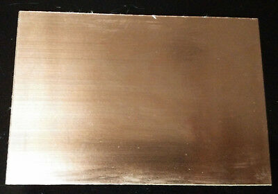 1 PCB Single Sided Copper Sheet Plate Guillotine Cut Bakelite Copper Clad 7x10cm