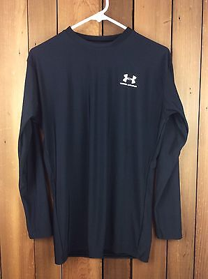 Men's UNDER ARMOUR Long Sleeve Black Compression Shirt Size XXL