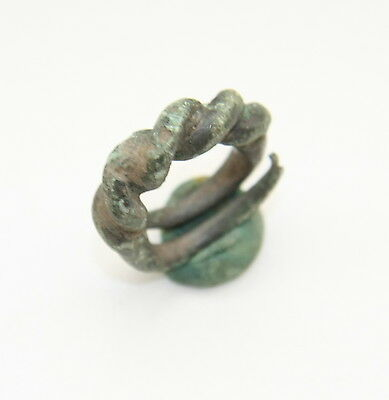 "Ancient Old Viking Bronze Ring ""Namejs"" (JLE15)"
