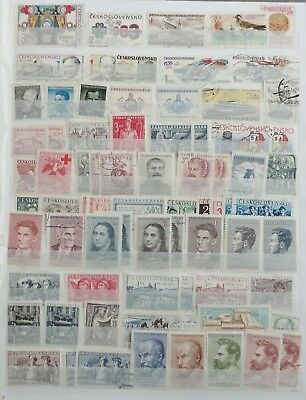 Czechoslovakia Postage Stamp Stockbook Collection - 1200 stamps