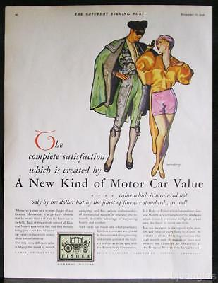 1928 Fisher Body GM Car Toreador Bull-Fighter Superb Style Barclay Art Print Ad