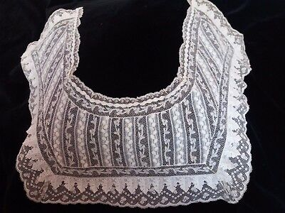 Vintage Lace Whitework Hand Embroidered Collar Valencienne Stunning